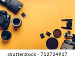 digital camera  lenses and... | Shutterstock . vector #712724917