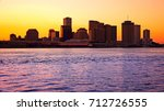 silhouette of downtown new... | Shutterstock . vector #712726555