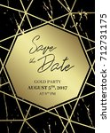 save the date design template....   Shutterstock .eps vector #712731175
