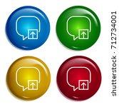 speech bubble multi color...