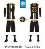 basketball uniform  shorts ... | Shutterstock .eps vector #712734769