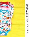 set of babies soft rompers....   Shutterstock . vector #712734949