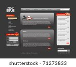 abstract web site template... | Shutterstock .eps vector #71273833