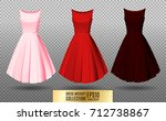 women's dress mockup collection.... | Shutterstock .eps vector #712738867