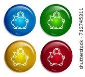 piggy bank multi color gradient ...