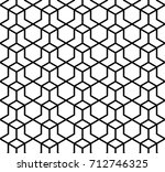 abstract geometric pattern with ... | Shutterstock .eps vector #712746325
