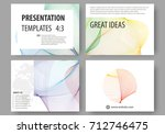 set of business templates for... | Shutterstock .eps vector #712746475