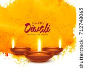 happy diwali vector background... | Shutterstock .eps vector #712748065