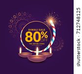 diwali festival sale template... | Shutterstock .eps vector #712748125