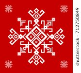 Red And White Ethnic Design...