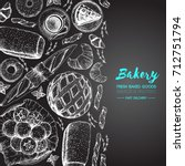 bakery illustration. vintage... | Shutterstock .eps vector #712751794