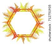 hexagon fern frond bracken... | Shutterstock .eps vector #712751935