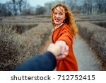 follow me. romantic concept.... | Shutterstock . vector #712752415