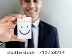 customer experience concept ... | Shutterstock . vector #712758214