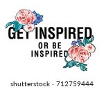 flowers and slogan message   Shutterstock .eps vector #712759444
