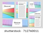 abstract vector layout... | Shutterstock .eps vector #712760011