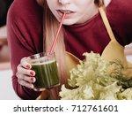 drinks good for health  diet...   Shutterstock . vector #712761601