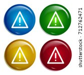 warning multi color gradient...