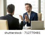 happy smiling businessman... | Shutterstock . vector #712770481
