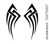 tribal wings pattern tattoo ...   Shutterstock .eps vector #712772317