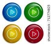 play button multi color...