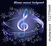 abstract musical background... | Shutterstock .eps vector #712775449