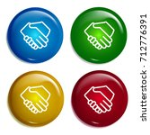 shake hands multi color...