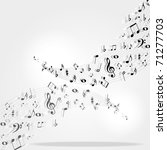 music notes background | Shutterstock .eps vector #71277703