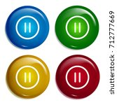 pause circular button multi...