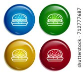 hamburger multi color gradient...