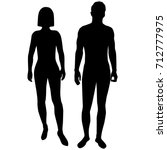 vector silhouettes shapes woman ... | Shutterstock .eps vector #712777975