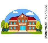 modern school buildings... | Shutterstock .eps vector #712778251