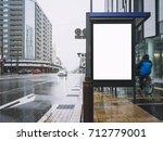 mock up banner template bus... | Shutterstock . vector #712779001