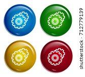 gears multi color gradient...