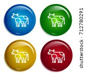 cow multi color gradient glossy ...