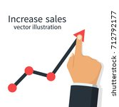 increase sales. diagram up.... | Shutterstock .eps vector #712792177