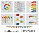 collection of 6 design colorful ... | Shutterstock .eps vector #712792801