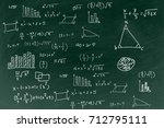 chalkboard with writing math... | Shutterstock . vector #712795111