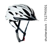 bicycle helmet isolated on... | Shutterstock . vector #712795501