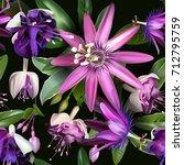 beautiful seamless vector... | Shutterstock .eps vector #712795759