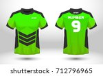 green and black layout football ... | Shutterstock .eps vector #712796965