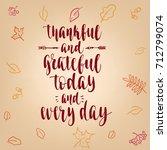 thanksgiving lettering. hand... | Shutterstock .eps vector #712799074