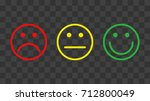 set of color smileys. vector... | Shutterstock .eps vector #712800049