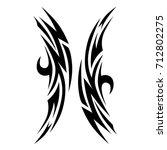 tattoo tribal vector design.... | Shutterstock .eps vector #712802275