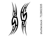 tattoo tribal vector design.... | Shutterstock .eps vector #712802335
