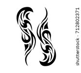 tattoo tribal vector design.... | Shutterstock .eps vector #712802371