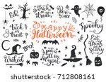 happy halloween graphic and... | Shutterstock .eps vector #712808161