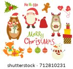 set of christmas christmas... | Shutterstock .eps vector #712810231