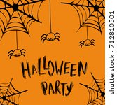 halloween party invitation card ... | Shutterstock .eps vector #712810501