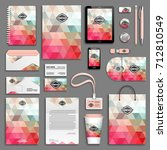 corporate identity template set.... | Shutterstock .eps vector #712810549
